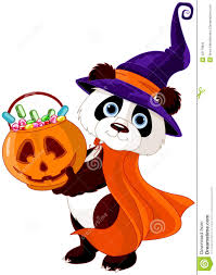 halloween panda stock vector image 43179835