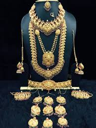 bridal sets for rent bridal jewelry set for rent 6 lingachari jewellers