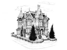 mansion clipart black and white gothic house 1885 illustration free stock photo public domain