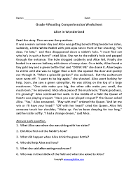 reading comprehension 4th grade worksheet 4th grade reading passages wosenly free worksheet
