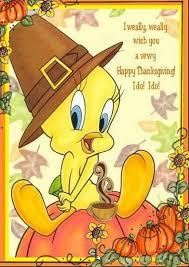 Thanksgiving Bird Tweety Bird Happy Thanksgiving Quote Messages