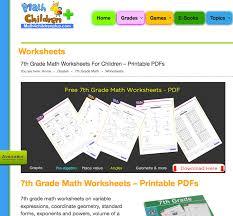 Grade Printable Math Worksheets 7th Grade Math Worksheets Problems And More