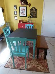 Best  Blue Kitchen Tables Ideas On Pinterest Small Kitchen - Painting kitchen table