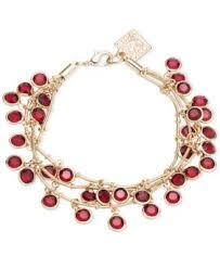 anne klein bracelet gold images Anne klein gold tone red crystal shaky bracelet fashion jewelry tif