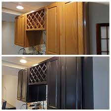 how to paint brown cabinets tips for painting kitchen cabinets black dengarden