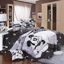 Minnie Mouse Single Duvet Set Mickey And Minnie Mouse King Queen Adults Cartoon Bedding Set 4