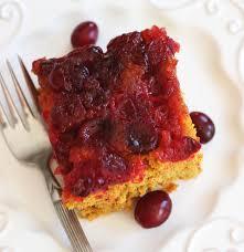 cranberry pumpkin upside down cake the gold lining