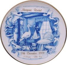 birth plates blue stork birth plate announcement plates craft