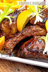 cantonese orange ribs the midnight baker