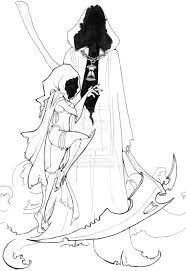 drawn grim reaper girm pencil and in color drawn grim reaper girm