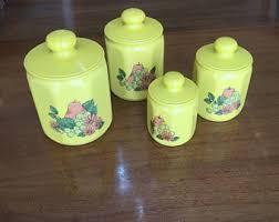 vintage kitchen canister set vintage kitchen canisters etsy