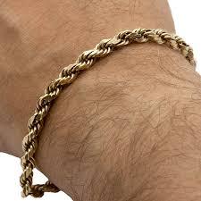 gold chain rope bracelet images 14k yellow gold men 39 s 8 quot diamond cut rope chain bracelet 12 85 dwt png