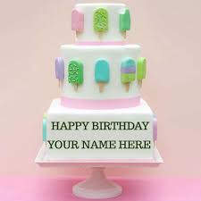 strawberry surprise birthday cake with your name