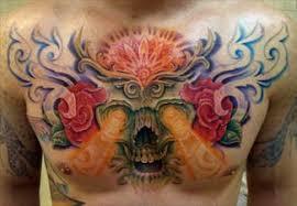 fashion buster modern chest tattoos