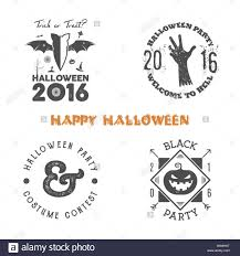 halloween 2016 party label templates with scary symbols zombie