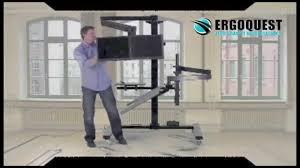 egd 2 ergonomic desk zero gravity workstation youtube