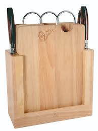 laguiole knife block and cutting board gift set