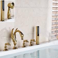 Swan Bathroom Faucet Online Get Cheap Golden Swan Shower Faucet Aliexpress Com