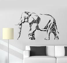 black white dot elephant african tribal boho moroccan wall art colorful tribal elephant mandal background canvas wall hanging