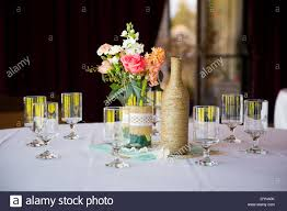 wine bottle wedding centerpieces wedding flower centerpieces stock photos wedding flower