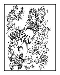 secret garden coloring book fractalbee deviantart