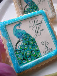 peacock wedding favors need wedding favors peacock cookies edible wedding favors