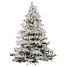 3ft flocked alaskan pine artificial tree with white led