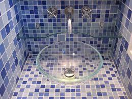 Blue Glass Tile Bathroom Glass Tile Bathroom Photos To Spark Your Imagination