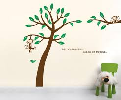 jungle tree with monkeys vinyl wall sticker size vinyl