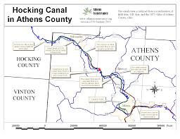 Ohio Canal Map by Specialty Maps The Athens Conservancy