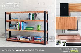 Wood Bookshelves Plans by Ep36 Ironbound Bookcase Homemade Modern Com Homemade Modern