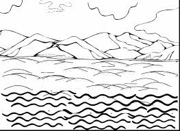 land and water coloring page thumbalize me