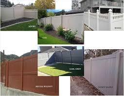 6 foot white vinyl privacy fence backyard fence ideas