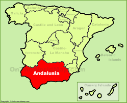 Spain Google Maps by Andalusia Location On The Spain Map