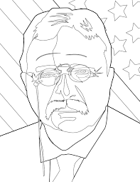 theodore roosevelt coloring page handipoints