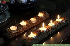 tree branch candle holder how to make a tree branch tealight candle holder 12 steps