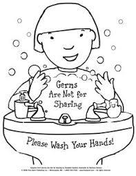 Hand Washing Coloring Sheet - handwashing coloring page free download