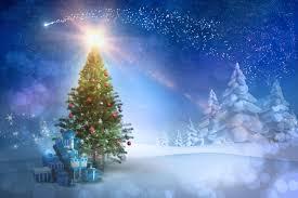 merry snowy winter time christmas snow evening xmas tree magic