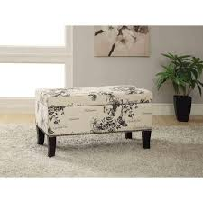 Black Home Decor by Linon Home Decor Stephanie Black Storage Ottoman 40454bot01u The