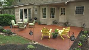 Stain Old Concrete Patio by Transform A Concrete Patio Diy