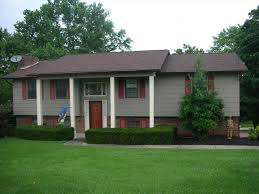 Gray Siding White Trim Black by Siding Shingle Siding With Brick With Brick One Story House In