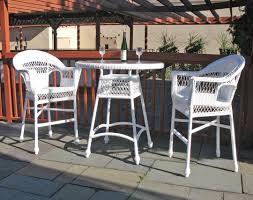 Patio Wicker Dining Set - outdoor wicker bar set cape cod