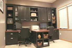 Built In Office Desk Office Built In Cabinets Office With T Shaped And Built In