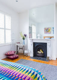 recessed lighting over fireplace melbourne mirrors over fireplace bedroom eclectic with colour themed