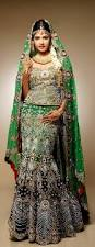 Fish Style Saree Draping Gorgeous Green Mermaid Fish Cut Bridal Lehenga Wedding