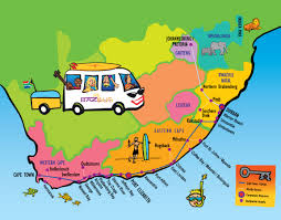 Map Of Cape Town South Africa by Baz Bus Ticket Information