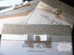 design own wedding invitation uk glitter and silver wedding invitation crystal couture luxury
