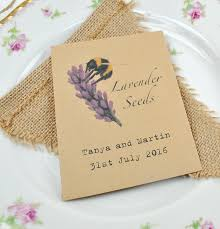 wedding favours recycled lavender seeds for bees seed packet wedding favours