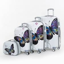 Indiana traveling suitcase images Wholesale 14 20 24 28inches pc butterfly travel luggage sets 4 jpg