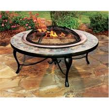 40 fire pit asia directad658c 40 in copper and slate fire pit table with